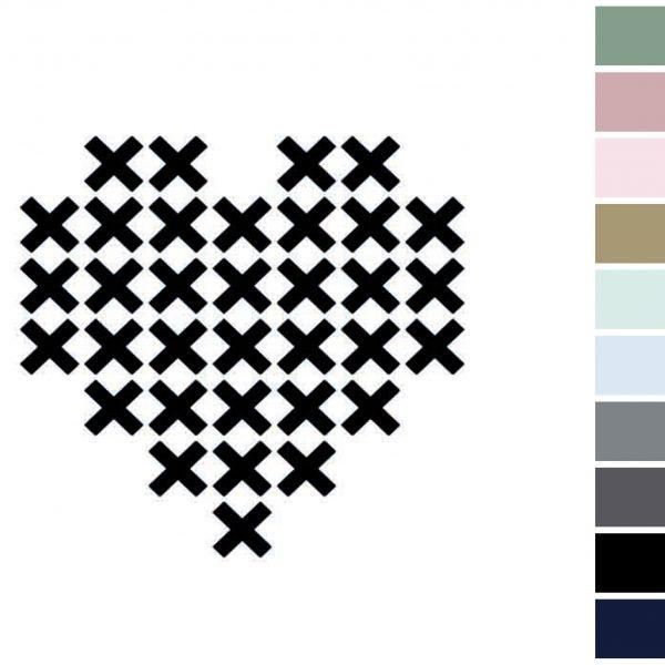 Canvas Hart (met kruizen)