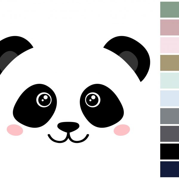 Canvas Pandaface