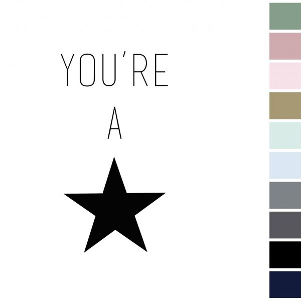 Canvas 'You're A Star'