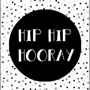 Ansichtkaart HIP HIP HOORAY