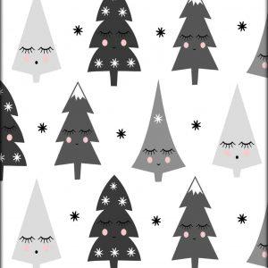 Ansichtkaart 'Kerstbomen'