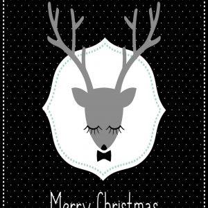 Ansichtkaart 'Merry christmas'