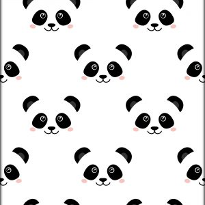 Ansichtkaart Little Pandafaces