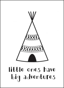 Postcard Tipi Tent 'Little Ones...'