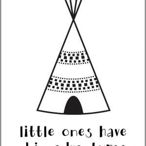 Ansichtkaart Tipi Tent 'Little Ones...'