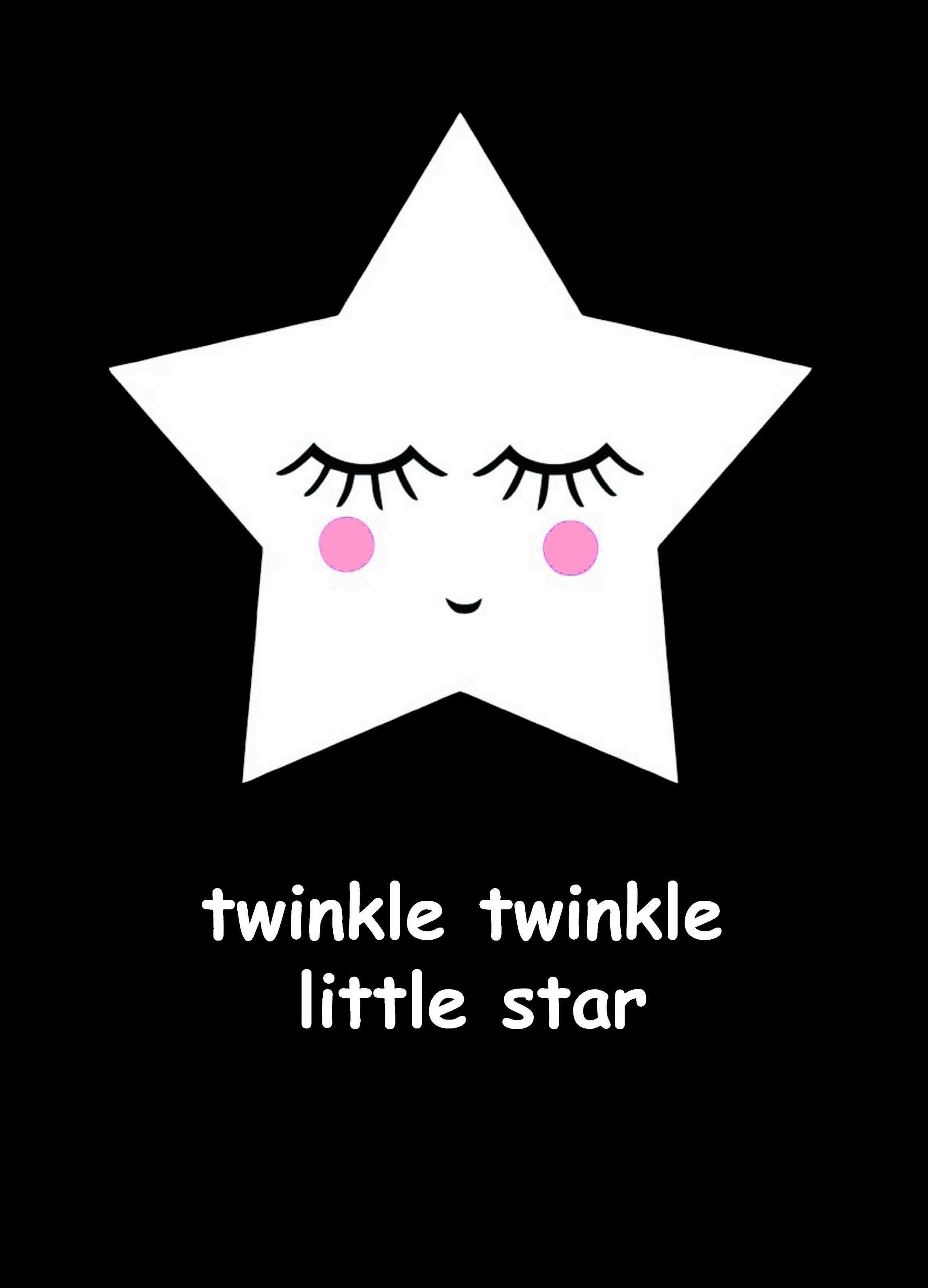 Postcard 'twinkle twinkle'