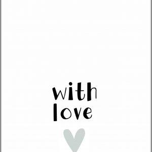 Ansichtkaart 'With Love'