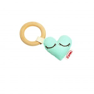 Teething ring heart