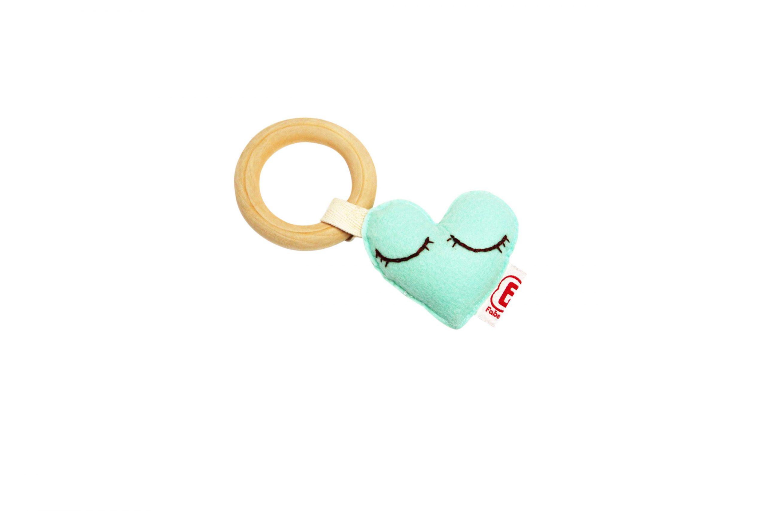 Teething ring heart