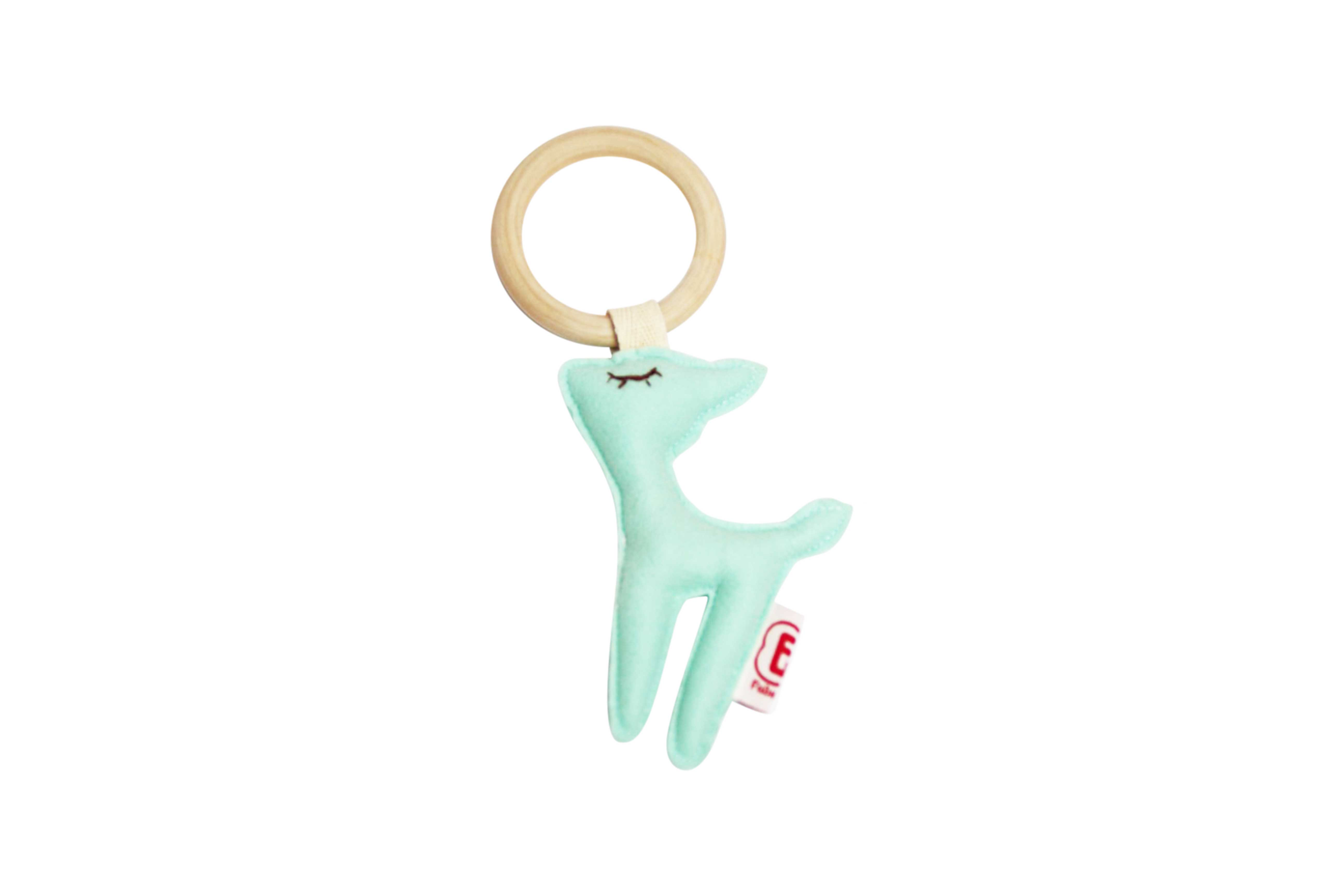 Teething ring deer