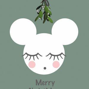 Ansichtkaart 'Merry Christmouse'