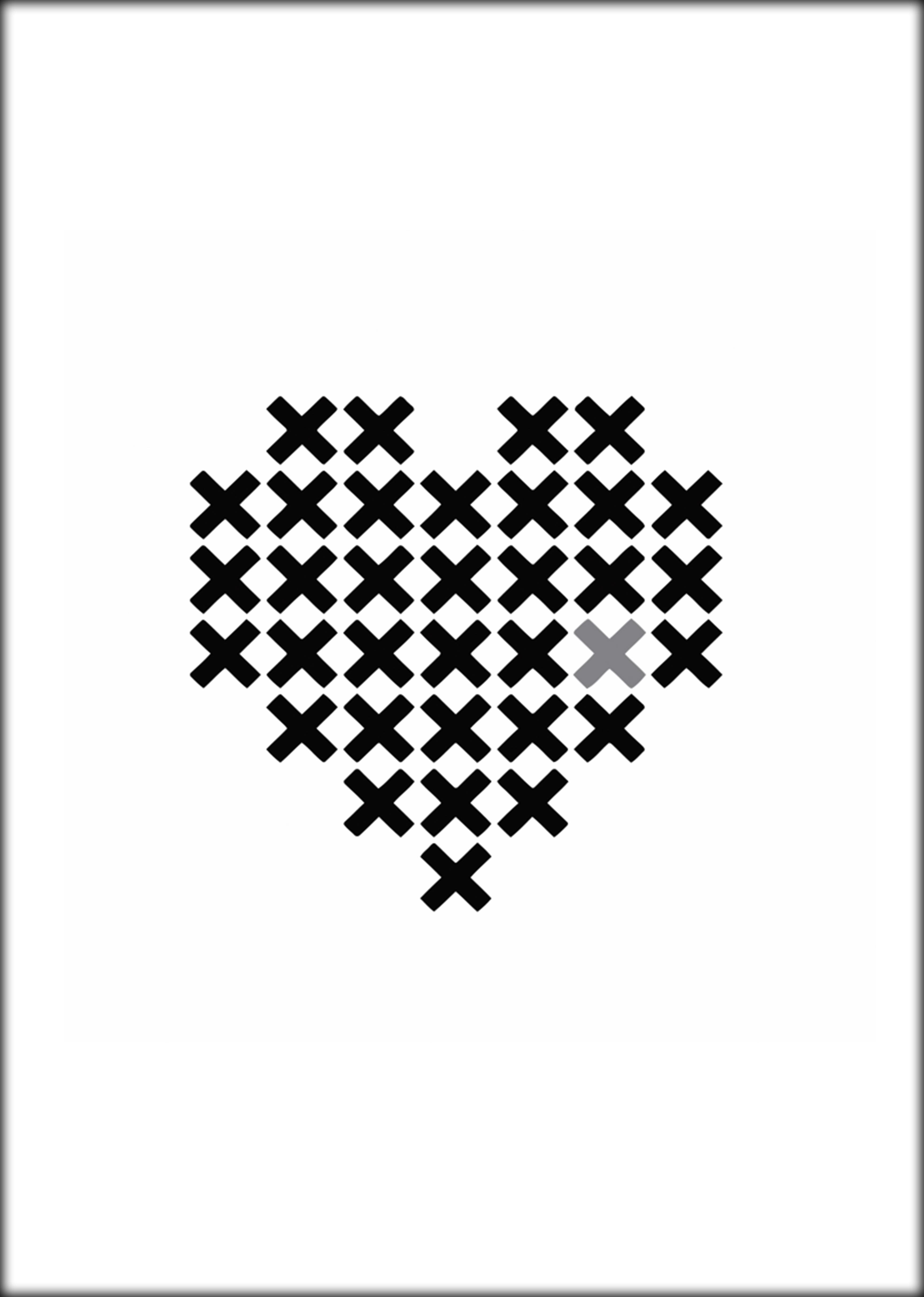 Poster Hart (van kruizen)