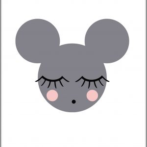 Poster Sleeping Mouse