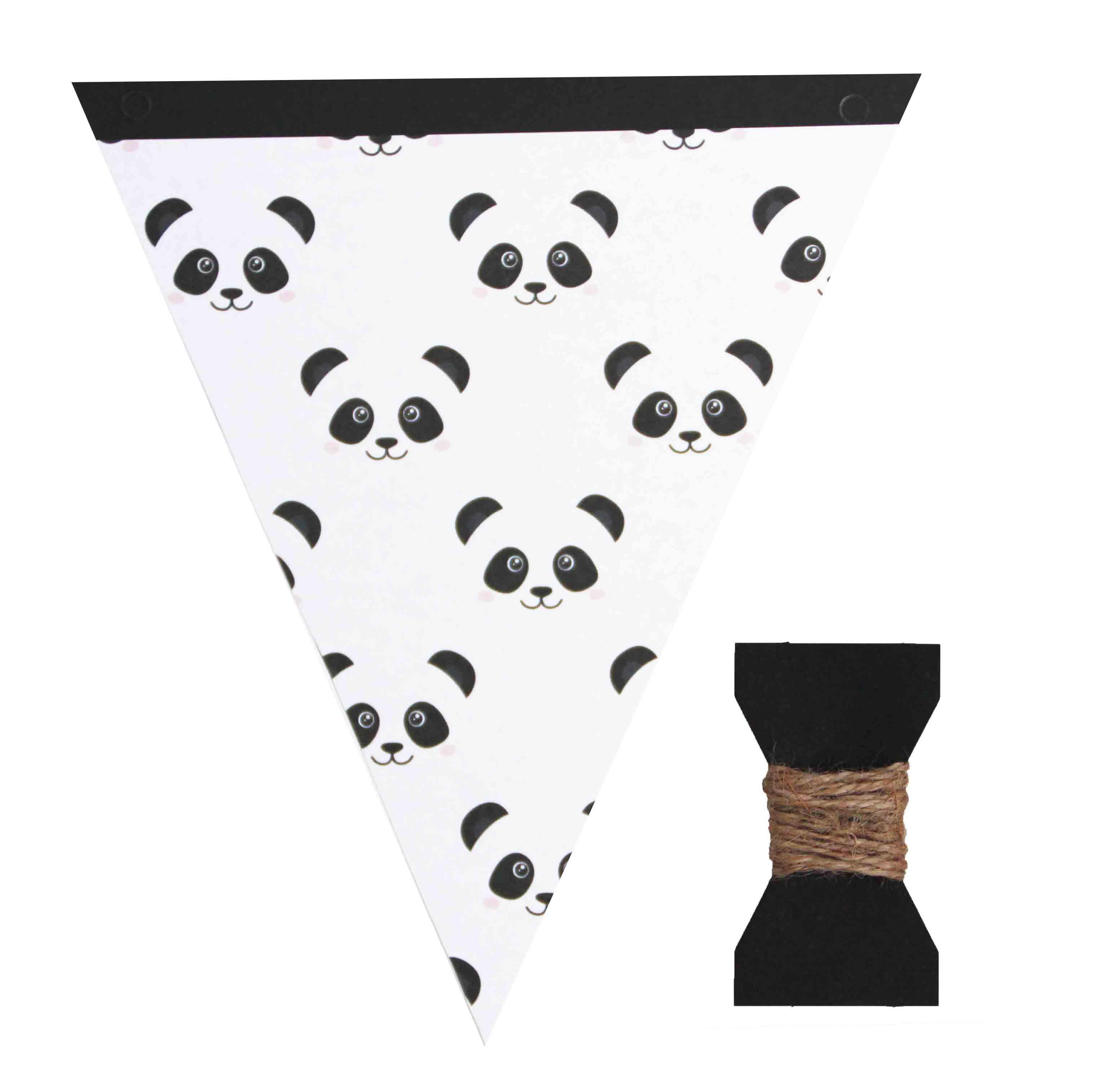 Vlaggetjeslijn DIY panda